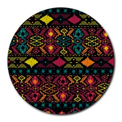 Traditional Art Ethnic Pattern Round Mousepads