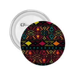 Traditional Art Ethnic Pattern 2.25  Buttons