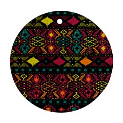 Traditional Art Ethnic Pattern Ornament (round)