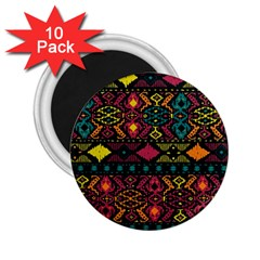 Traditional Art Ethnic Pattern 2 25  Magnets (10 Pack)