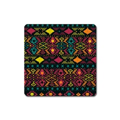 Traditional Art Ethnic Pattern Square Magnet