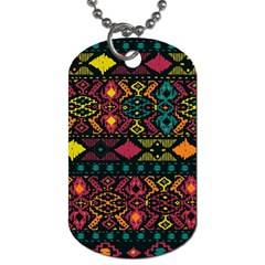Traditional Art Ethnic Pattern Dog Tag (Two Sides)