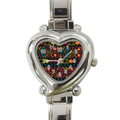 Traditional Art Ethnic Pattern Heart Italian Charm Watch