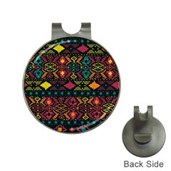 Traditional Art Ethnic Pattern Hat Clips with Golf Markers