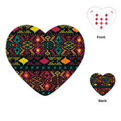 Traditional Art Ethnic Pattern Playing Cards (Heart)