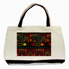 Traditional Art Ethnic Pattern Basic Tote Bag