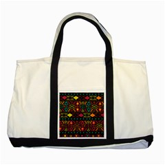 Traditional Art Ethnic Pattern Two Tone Tote Bag