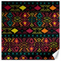 Traditional Art Ethnic Pattern Canvas 12  X 12