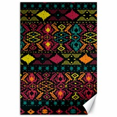 Traditional Art Ethnic Pattern Canvas 12  x 18