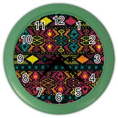 Traditional Art Ethnic Pattern Color Wall Clocks