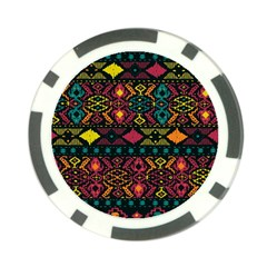 Traditional Art Ethnic Pattern Poker Chip Card Guard