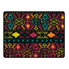 Traditional Art Ethnic Pattern Fleece Blanket (Small)
