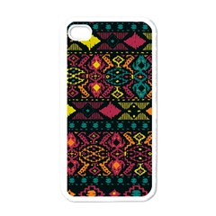 Traditional Art Ethnic Pattern Apple iPhone 4 Case (White)