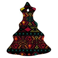 Traditional Art Ethnic Pattern Christmas Tree Ornament (Two Sides)