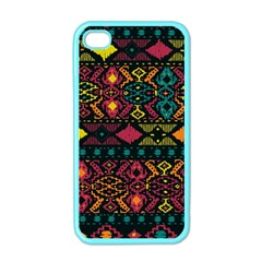 Traditional Art Ethnic Pattern Apple iPhone 4 Case (Color)