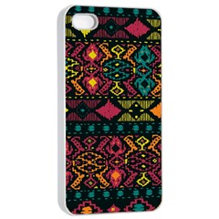 Traditional Art Ethnic Pattern Apple iPhone 4/4s Seamless Case (White)
