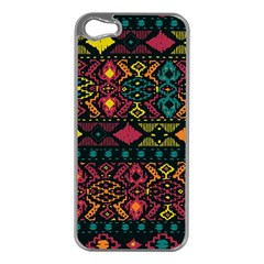 Traditional Art Ethnic Pattern Apple iPhone 5 Case (Silver)