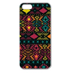 Traditional Art Ethnic Pattern Apple Seamless iPhone 5 Case (Clear)