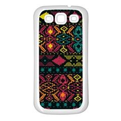 Traditional Art Ethnic Pattern Samsung Galaxy S3 Back Case (White)