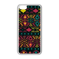 Traditional Art Ethnic Pattern Apple iPhone 5C Seamless Case (White)