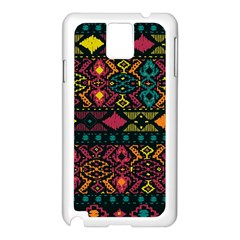 Traditional Art Ethnic Pattern Samsung Galaxy Note 3 N9005 Case (White)