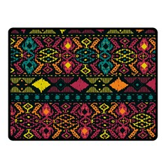 Traditional Art Ethnic Pattern Double Sided Fleece Blanket (Small)