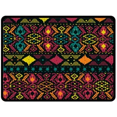 Traditional Art Ethnic Pattern Double Sided Fleece Blanket (large)