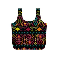 Traditional Art Ethnic Pattern Full Print Recycle Bags (S)