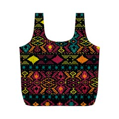 Traditional Art Ethnic Pattern Full Print Recycle Bags (M)