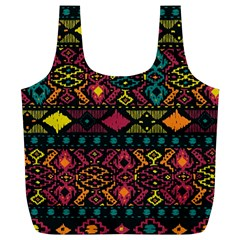 Traditional Art Ethnic Pattern Full Print Recycle Bags (L)