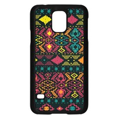 Traditional Art Ethnic Pattern Samsung Galaxy S5 Case (Black)