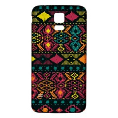 Traditional Art Ethnic Pattern Samsung Galaxy S5 Back Case (White)