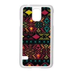 Traditional Art Ethnic Pattern Samsung Galaxy S5 Case (White)