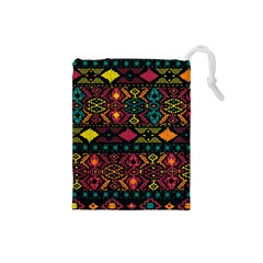 Traditional Art Ethnic Pattern Drawstring Pouches (Small)