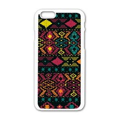 Traditional Art Ethnic Pattern Apple iPhone 6/6S White Enamel Case