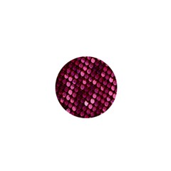 Red Circular Pattern Background 1  Mini Magnets