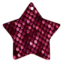 Red Circular Pattern Background Ornament (star)