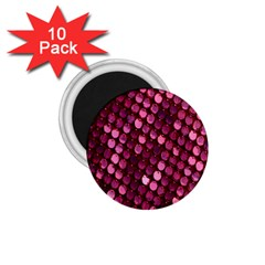 Red Circular Pattern Background 1 75  Magnets (10 Pack)
