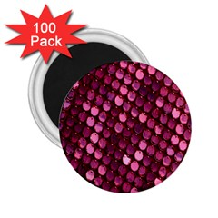 Red Circular Pattern Background 2.25  Magnets (100 pack)
