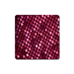 Red Circular Pattern Background Square Magnet