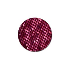 Red Circular Pattern Background Golf Ball Marker (10 pack)