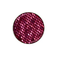 Red Circular Pattern Background Hat Clip Ball Marker (4 pack)