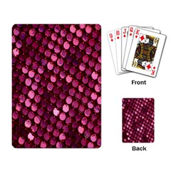 Red Circular Pattern Background Playing Card