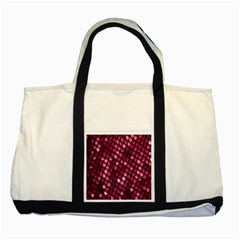 Red Circular Pattern Background Two Tone Tote Bag