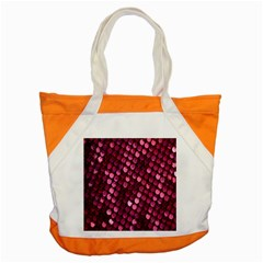 Red Circular Pattern Background Accent Tote Bag