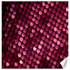 Red Circular Pattern Background Canvas 16  X 16