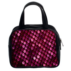 Red Circular Pattern Background Classic Handbags (2 Sides)