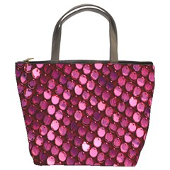 Red Circular Pattern Background Bucket Bags