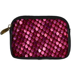 Red Circular Pattern Background Digital Camera Cases