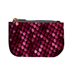 Red Circular Pattern Background Mini Coin Purses